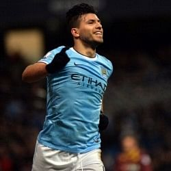 Manchester City striker Sergio Aguero ruled out for a month with hamstring injury
