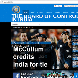 BCCI's official website hacked by Bangladeshi fans