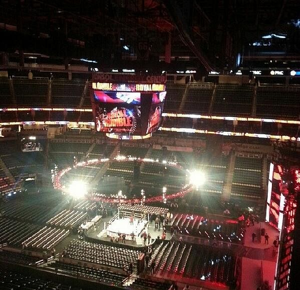 Royal Rumble stage photos