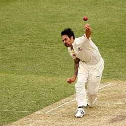 Mitchell Johnson covers more distance than a half-marathon runner