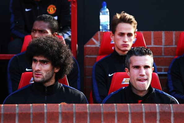 Marouane Fellaini and Robin van Persie back in training