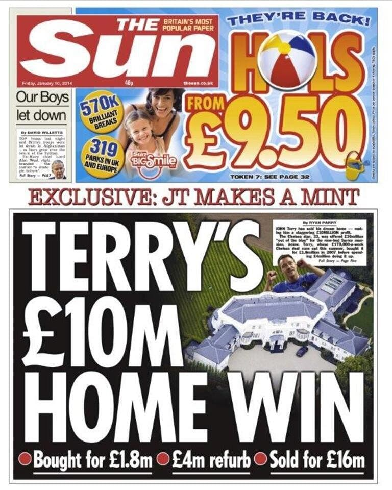 Rumour: John Terry sells home. Is he looking to move abroad?
