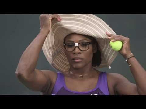Video: Federer with a Texan moustache, and Serena in a cowboy hat!