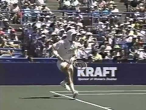Video: Ivan Lendl and Stefan Edberg pull off incredible trick shots!
