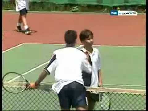 Video: 12-year-old Rafael Nadal playing tennis