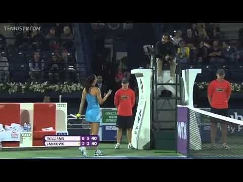 Video: Another ugly spat between Serena Williams and Jelena Jankovic, this time in Dubai