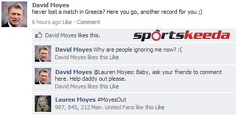 FB Wall: Everyone is ignoring David Moyes now, even his ...