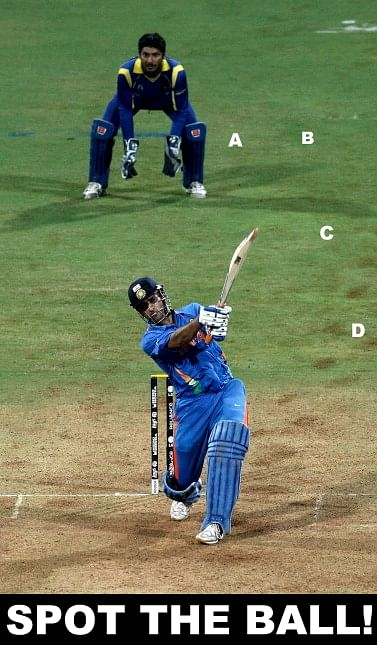 Spot The Ball: MS Dhoni's World Cup winning six