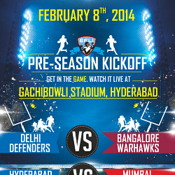 American muscle greets people as EFLI's Pre-Season Kickoff begins at Gachibowli Stadium, Hyderabad