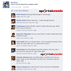 FB Wall: Mahendra Singh Dhoni to retire?
