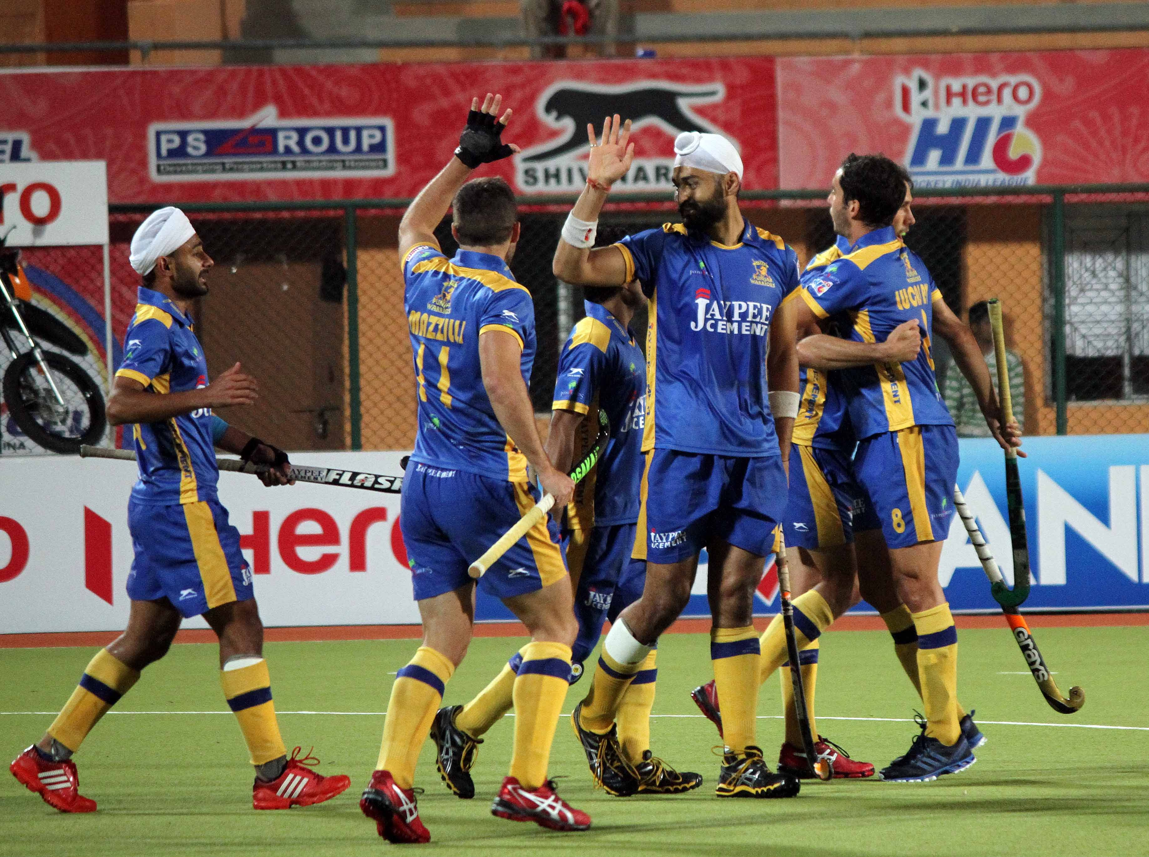 Jaypee Punjab Warriors beat Ranchi Rhinos 3-2 to emerge league toppers in HHIL 2014
