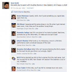 Fake FB Wall: Virat Kohli happy despite losing the Test