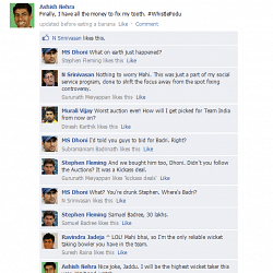 FB Wall: Ashish Nehra rejoices on Facebook after the IPL Auction