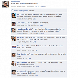 FB Wall: N Srinivasan gets ready to 'fix' again