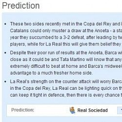 Real Sociedad vs Barcelona - Statistical Preview