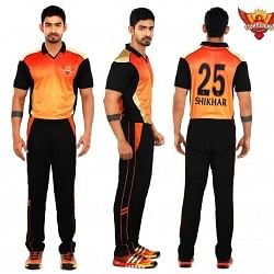 Sunrisers Hyderabad jersey for the 2014 IPL season revealed