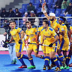 Sandeep Singh's brace takes Jaypee Punjab Warriors to HHIL 2014 final after 3-2 win over Ranchi Rhinos