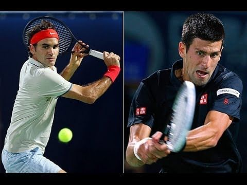 Highlights from the Dubai Duty Free Tennis Championships semi-final - Roger Federer and Novak Djokovic