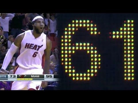 Video: LeBron James career high 61-points vs Charlotte Bobcats