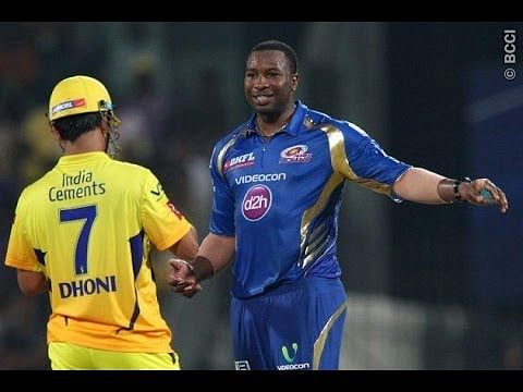 Video: Dhoni vs Pollard - Brainy and funny fight in IPL 2013