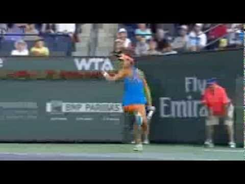 Video: Ana Ivanovic emulates Roger Federer, hits a perfect tweener at Indian Wells