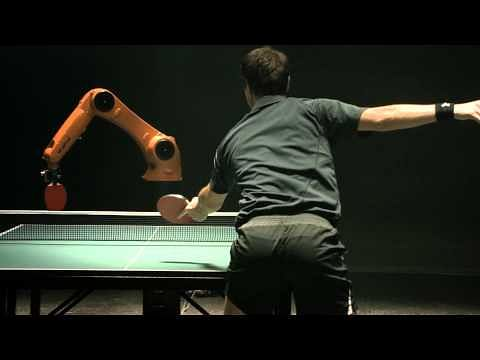 Man vs Robot: Timo Boll plays table tennis against KUKA's fastest robot