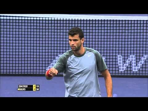 Video: Grigor Dimitrov hits an incredible shot from behind his back at Indian Wells