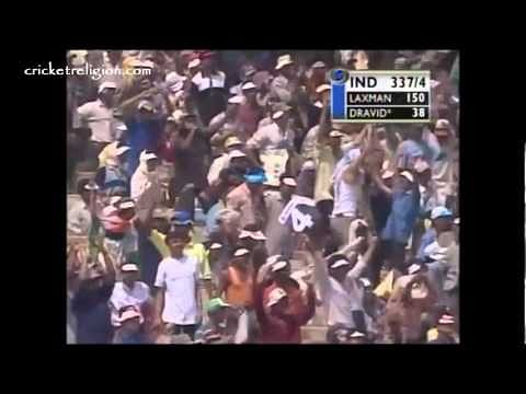 Video: VVS Laxman and Rahul Dravid's 376-run partnership vs. Australia in 2001