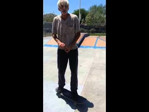 55-year old man shows that you are never too old for skateboarding