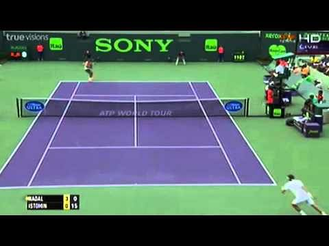 Video: Rafael Nadal v Denis Istomin highlights, Miami Masters 2014