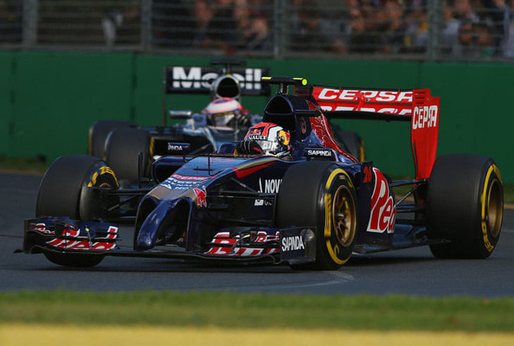 Top 5 drivers at the Australian Grand Prix