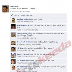 Fake FB Wall: Captains fight on MS Dhoni's wall