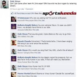 Fake FB Wall: Dale Steyn wants to switch teams in IPL