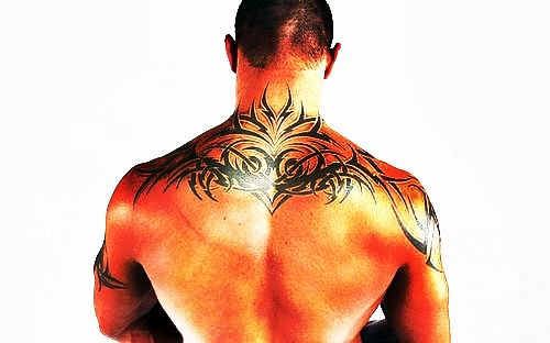 Randy Orton's back tattoo