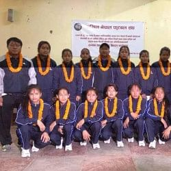 ANFA honors victorious Nepal U-14 girls National Football team