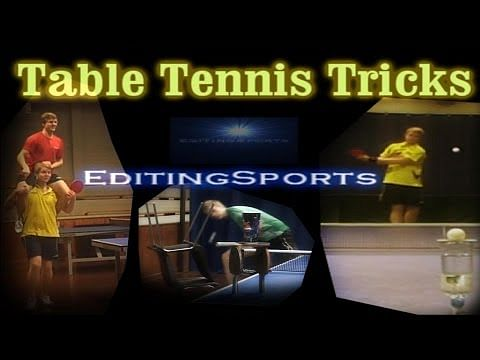 Table tennis trick shots that will blow your mind!