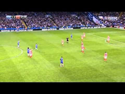 Eden Hazard steals a free kick from David Luiz