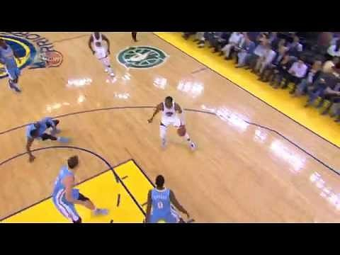 Andre Iguodala destroys Quincy Miller with an nasty crossover
