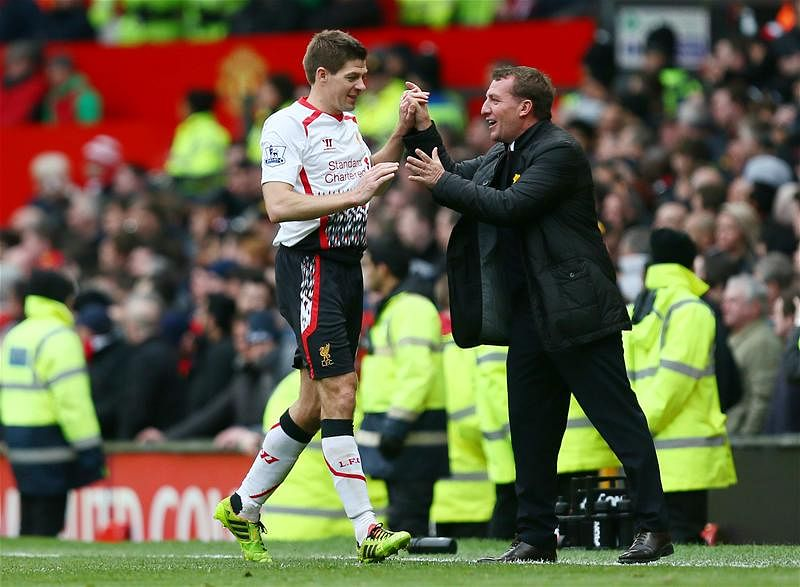 "Rodgers: Liverpool captain Gerrard is ""the best in Europe"" as a deep-lying playmaker"