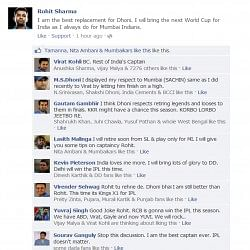 Fake FB Wall - Rohit starts IPL war unknowingly..