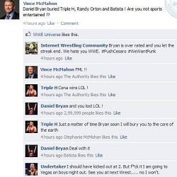 Fake Fb Wall: Vince Mcmahon updates his Facebook status after WrestleMania XXX