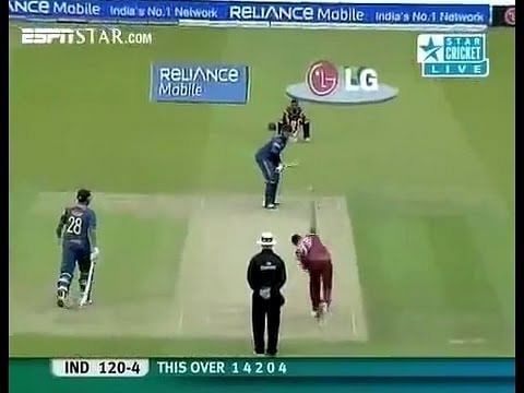 Video: Yuvraj Singh's helicopter shot against West Indies