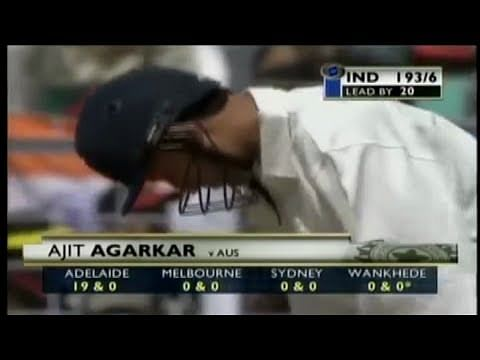 Video: Ajit Agarkar's 7 consecutive ducks against Australia