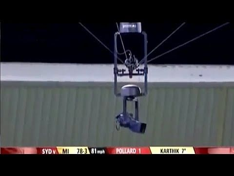 Video: Dinesh Karthik hits the spider cam