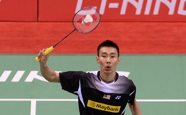 World No.1 Lee Chong Wei does a bhangra with Indian shuttlers