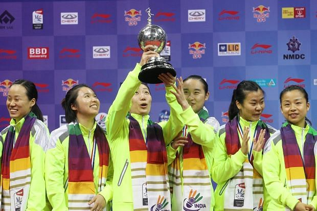 China overwhelm Japan to clinch 13th Uber Cup title