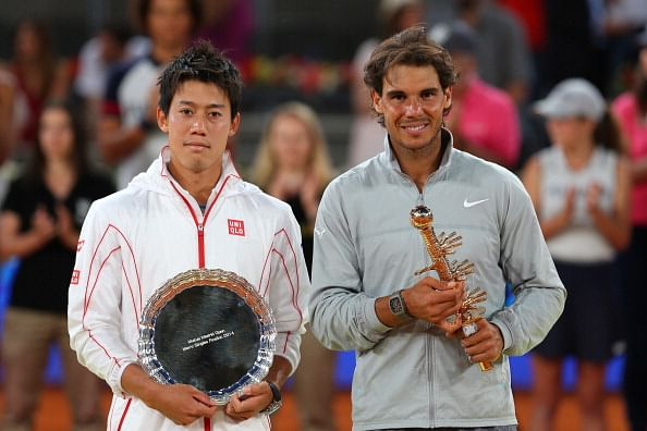 Injury derails Kei Nishikori, hands Rafael Nadal victory in Madrid