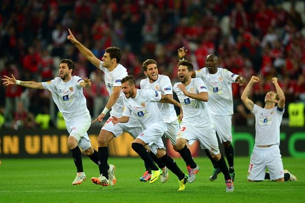 Sevilla defeat Benfica 4-2 on penalties to win the 2013/14 Europa League; Benfica continue 52-year barren run in Europe
