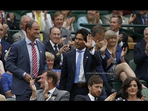 Video: Sachin Tendulkar and David Beckham at Wimbledon 2014
