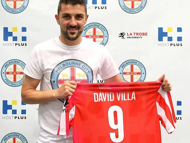 David Villa to play for Melbourne City in A-League